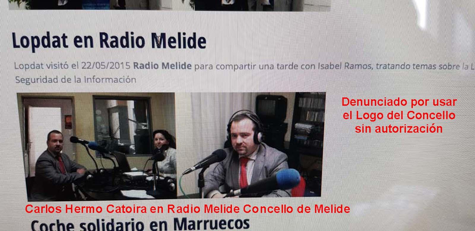 foto mediolocal estudioRadioMelideCarlosHermoCatoiracomoDircetordeLOPDAT