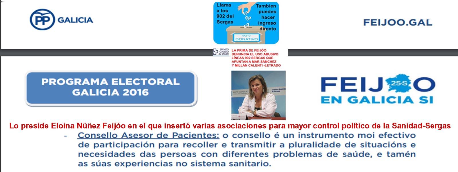 Eloina Nuéñez utiliza los recursos del Sergas para financiar y ...