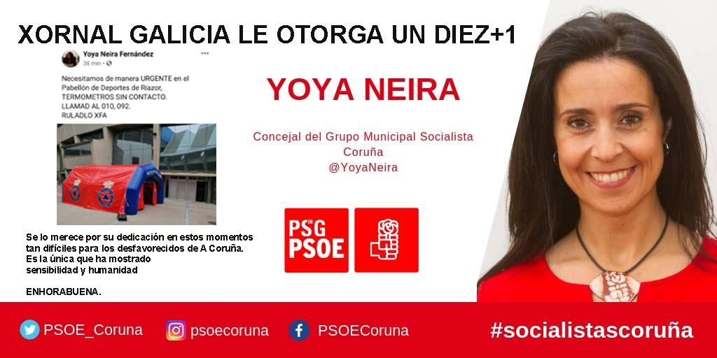 Desde Xornal Galicia felicitamos a Yoya Neira, edil socialista de ...