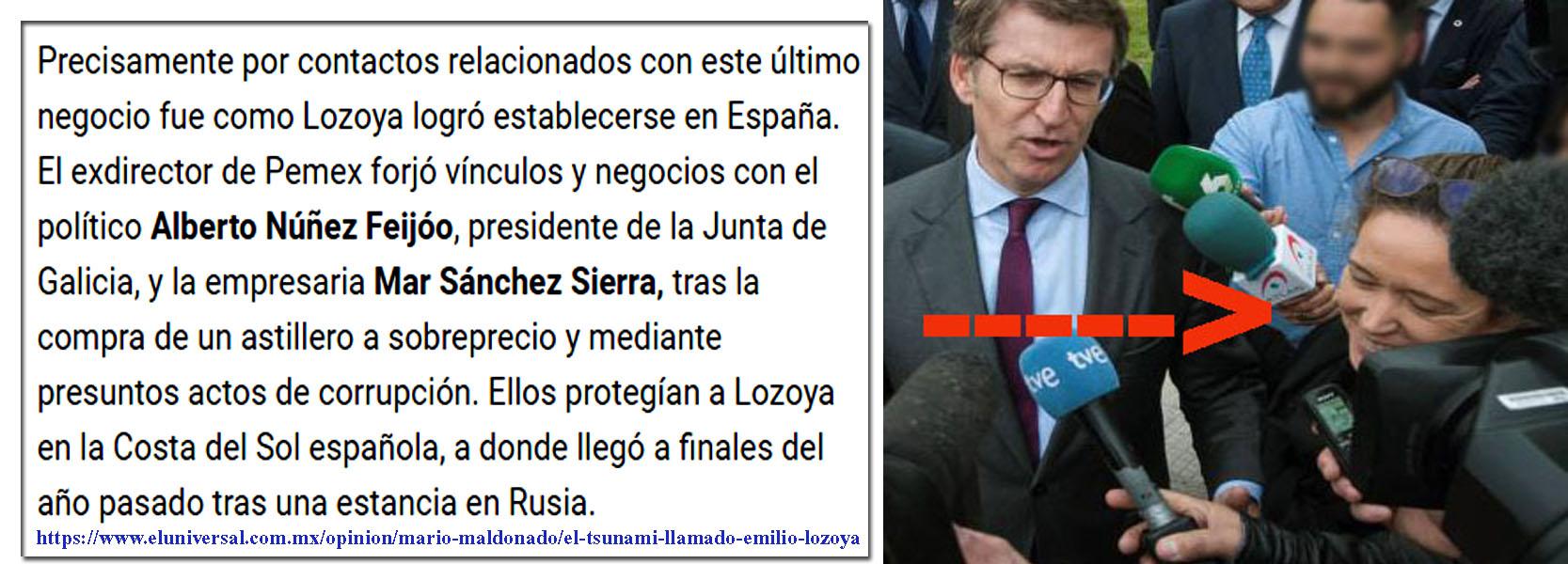 El diario El Universal de México apunta a Feijóo y Mar Sánchez ...